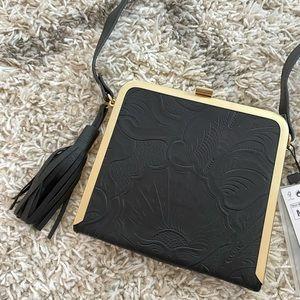Zara Black Leather Clutch